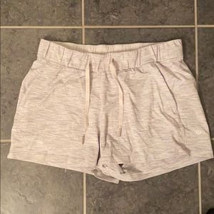 Lululemon grey stripe shorts